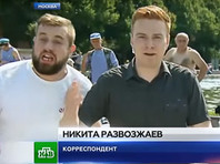 Пьяный хулиган в День ВДВ напал на корреспондента НТВ в прямом эфире (ВИДЕО)