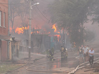Крупный пожар в Ростове-на-Дону