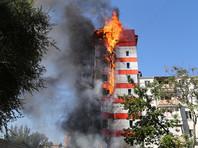 В центре Ростова-на-Дону сгорело десятиэтажное здание гостиницы, два человека погибли (ФОТО, ВИДЕО)