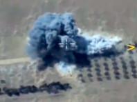 Российские самолеты в ходе операции уничтожали опорные пункты и бронетехнику террористов, огневые позиции артиллерии, пункты управления и узлы связи боевиков