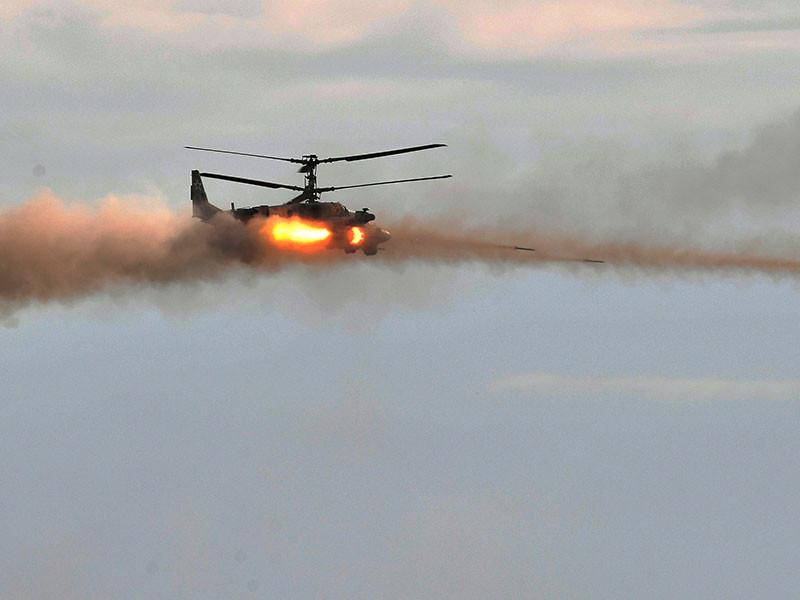 """На полигоне """"Лужский"""" под Санкт-Петербургом произошел непроизвольный пуск ракет класса """"воздух-земля"""" с вертолета Ка-52"""