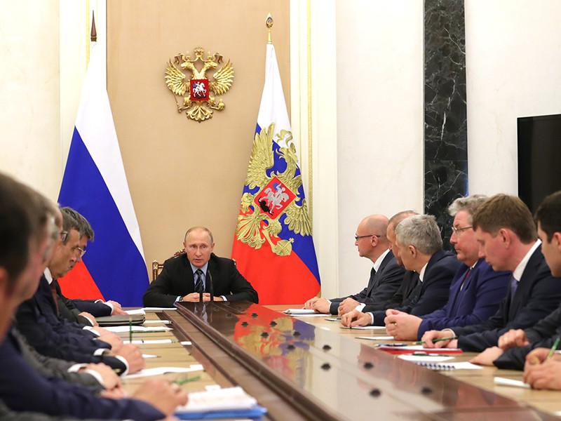 Президент России Владимир Путин встретился в Кремле с избранными 10 сентября руководителями нескольких регионов