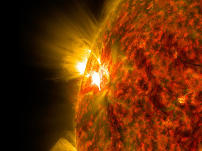 Российские ученые зафиксировали новую крупную вспышку на Солнце