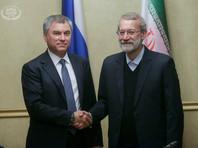 На переговорах с российским коллегой Лариджани заявил, что действия США по иранской ядерной сделке и вводимые ими санкции против Ирана и России могут привести к хаосу в международных отношениях