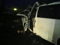 """В Саратовской области столкнулись """"КамАЗ"""" и микроавтобус с мигрантами: пятеро погибших, шестеро в тяжелом состоянии"""