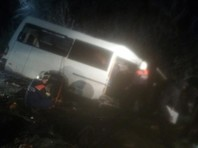 В Марий Эл в результате столкновения микроавтобуса с лесовозом погибли 15 человек