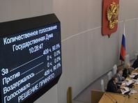 За принятие поправок высказались 409 депутатов из 450, выступивших против или воздержавшихся не оказалось