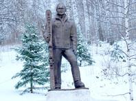 Под Челябинском поставили бронзовую скульптуру Путина с лыжами