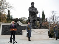 Путин в Ялте открыл памятник Александру III работы Ковальчука