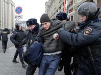 В Москве более 100 задержанных за несанкционированные акции остались в полиции на ночь