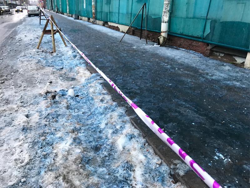 Росприроднадзор объяснил синий снег во дворах Петербурга