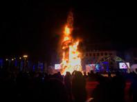 В Южно-Сахалинске сгорела главная городская елка