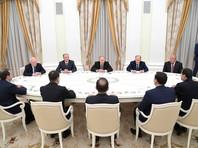 """Путин поблагодарил глав спецслужб СНГ за сотрудничество в борьбе с """"бременем"""" терроризма"""