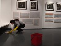 Активисты  SERB   в который раз   пролили вонючую жидкость  на выставке Стерджеса