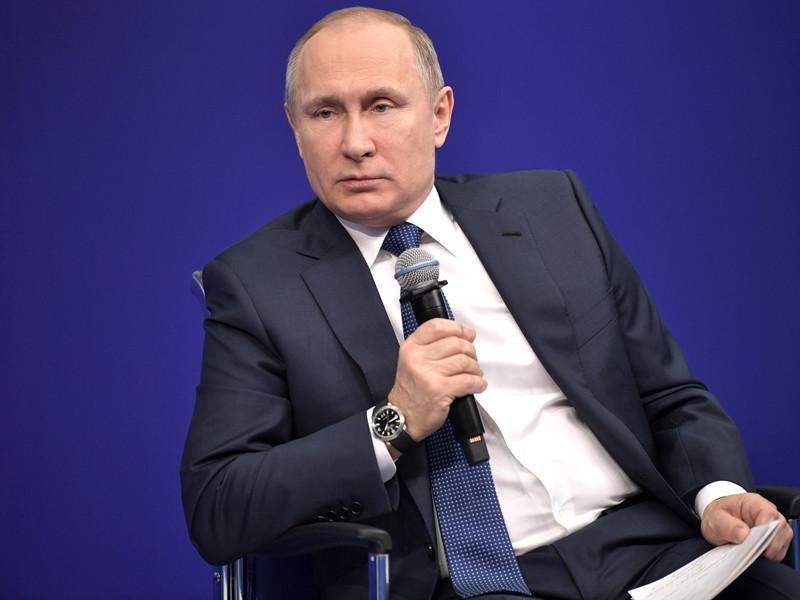 """Внесение в американский """"кремлевский доклад"""" 210 российских чиновников и олигархов равноценно внесению в список всего населения страны, считает президент России Владимир Путин"""