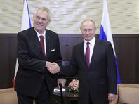 Путин поздравил пророссийского президента Чехии с переизбранием