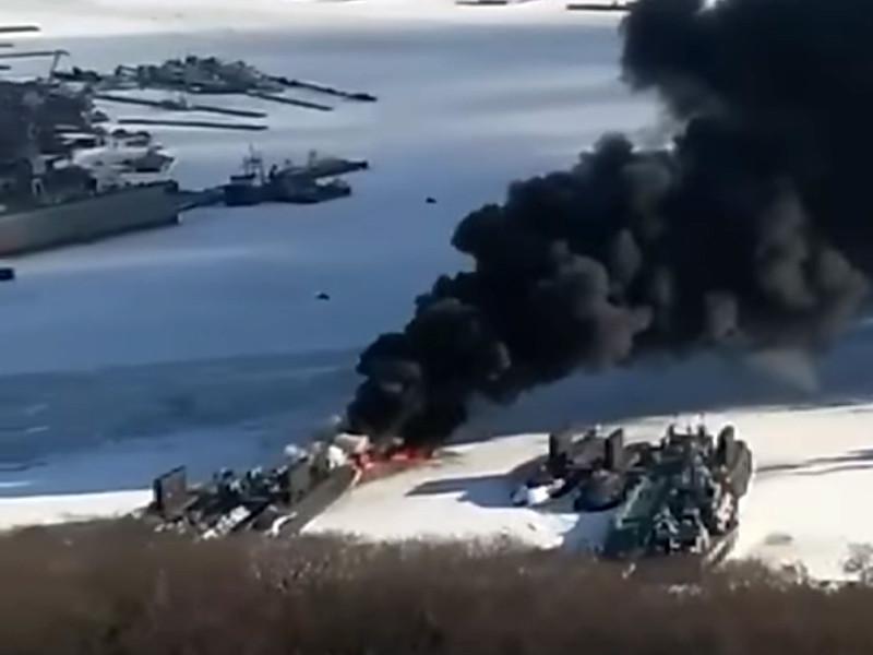 """На базе подлодок ТОФ произошел крупный пожар. На флоте уверяют, что """"учебный"""""""