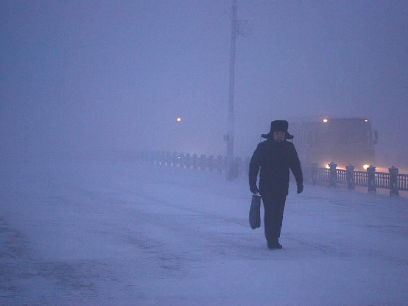 На территорию Якутии пришли крещенские морозы: в некоторых районах температура воздуха доходит до минус 55
