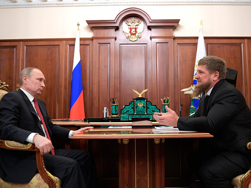 Владимир Путин и Рамзан Кадыров, 19 апреля 2017 года