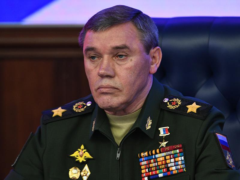 Начальник Генерального штаба Вооруженных сил генерал Валерий Герасимов