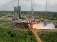 Запуск ракеты планировался на 19:37 по московскому времени с космодрома Гвианского космического центра, но был отложен на 33 минуты из-за сильных ветров на высоте 10 километров