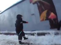 """В Новосибирске закрасили любимое граффити горожан """"Я из Сибири"""" (ВИДЕО)"""