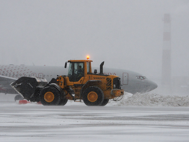 Снегопад, который ночью начался в московском регионе, привел к десяткам задержек рейсов в столичных аэропортах
