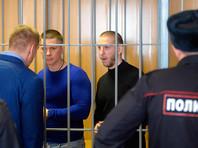 """Участники преступной группировки, организатором которой является Захарий Калашов (известный как """"вор в законе"""" по кличке Шакро Молодой), обвиняемые в вымогательстве в особо крупном размере, во время оглашения приговора в Никулинском суде Москвы"""
