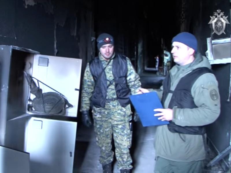 Работа следственной группы на месте трагедии в Кемерово