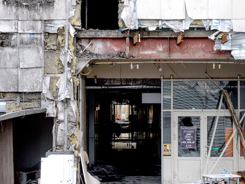 """СК: двери запасного выхода из кинозала в """"Зимней вишне"""" стянули тросиком"""