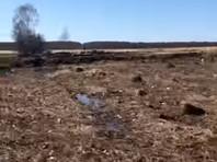 """Место крушения самолета """"Саратовских авиалиний"""" Ан-148 в Раменском районе, апрель 2018 года"""