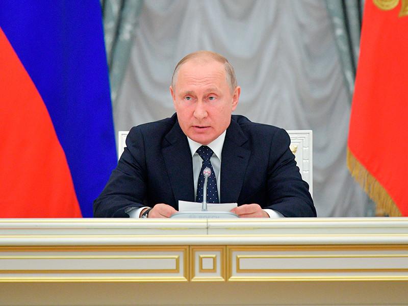 26 мая 2018. Президент РФ Владимир Путин проводит совещание с членами нового состава правительства РФ