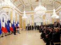 Совместная пресс-конференция Владимира Путина и Эммануэля Макрона