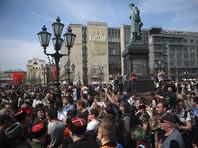 """Казаков, которые били нагайками протестующих на акции """"Он нам не царь"""" 5 мая в Москве, выпороли их соратники"""