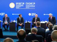 Александр Шохин, Владимир Путин, Эммануэль Макрон и Пьер Гаттаз