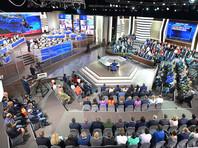 """""""Прямая линия с Владимиром Путиным"""" - телевизионная программа, в ходе которой глава государства отвечает в прямом эфире на вопросы жителей России и ближнего зарубежья"""
