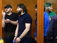 Слева направо: Хамзат Бахаев, Заур Дадаев, Анзор Губашев и Шадид Губашев, обвиняемые по делу об убийстве политика Бориса Немцова