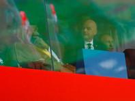 Наследный принц Саудовской Аравии Мухаммед ибн Салман Аль Сауд, президент FIFA Джанни Инфантино и президент России Владимир Путин