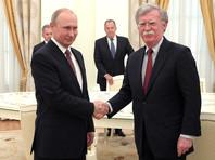 Владимир Путин встретился с советником президента США Джоном Болтоном