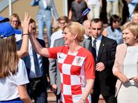Президент Хорватии Колинда Грабар-Китарович прибыла 7 июля чартерным рейсом в Сочи, где в 21:00 в субботу состоится четвертьфинальный матч чемпионата мира по футболу между сборными России и Хорватии