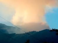 В Крыму горит ущелье Уч-Кош около Ялты