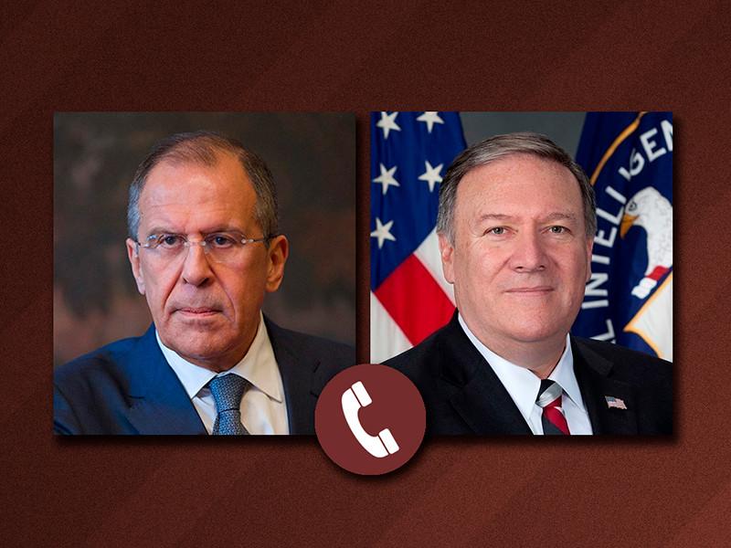 Глава МИД РФ Лавров и госсекретарь США Помпео обсудили по телефону ситуацию вокруг Сенцова