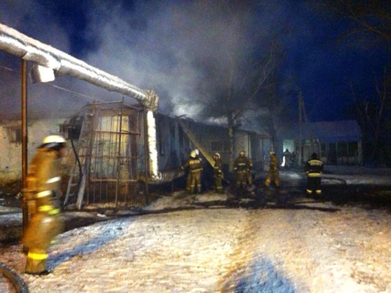 Пожар в жилом корпусе больницы в селе Алферовка Новохоперского района, где располагался интернат, произошел поздно вечером 12 декабря 2015 года