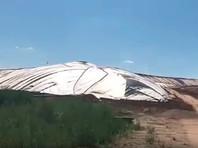 """На скандальной свалке под Волоколамском вздулся защитный купол: жители боятся, что """"рванет"""". Власти назвали это """"обычным явлением"""""""