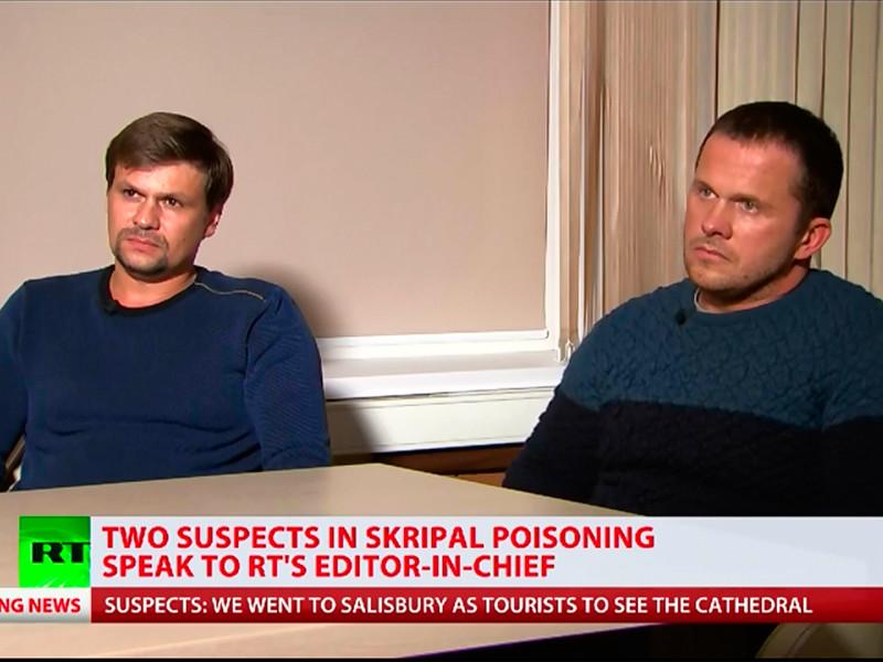 """""""Мы не агенты"""": подозреваемые в отравлении Скрипалей дали интервью Симоньян"""