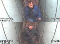Александр Петров и Руслан Боширов в аэропорту Гэтвик