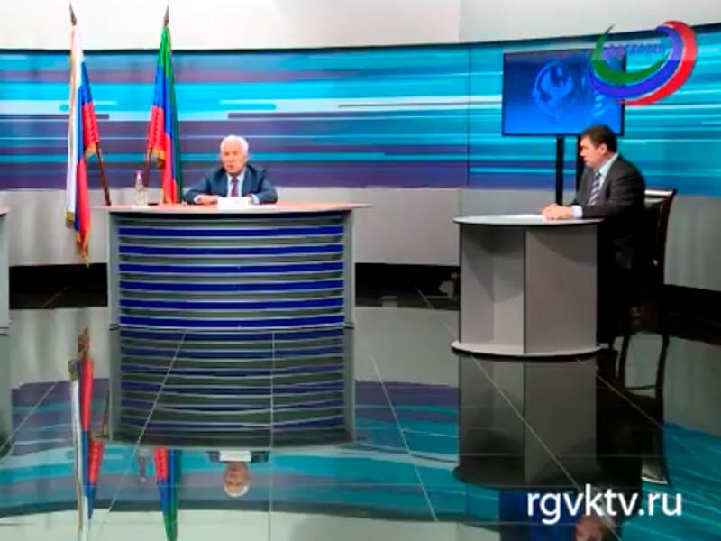Глава Дагестана Владимир Васильев провел брифинг в прямом эфире на республиканском ТВ, который был посвящен обсуждению бюджета республики на 2019 год