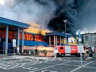 В Петербурге сгорел гипермаркет «Лента», полностью обрушилась крыша (ФОТО, ВИДЕО)