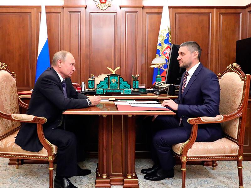 Владимир Путин и Александр Осипов, 25 октября 2018 года
