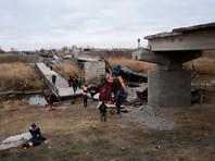 Обрушение автомобильного моста  через реку Савала в Терновском районе
